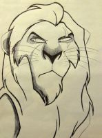 Disney Crosshatch - SCAR by Jaggid-Edge