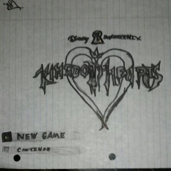 kingdom hearts title screen wip by jusheeandtootee