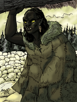 Orc woman by Shabazik