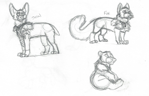 Cyrus Animal Form Concepts by SapphireSquire