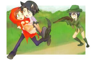 Eren the little red riding hood by XxNowLoadingxX