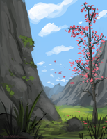 Sakura Valley by ehecod