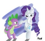 Rarity and Spike by Jbond92