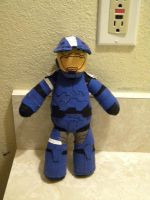 Halo Blue Spartan Plushie Remastered by Shogun95