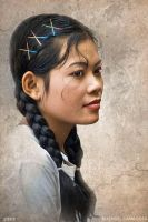 Cambodian Hairstyle by mjbeng