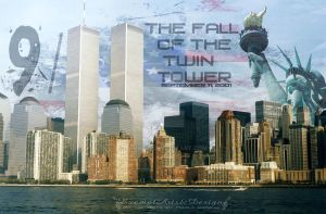 The Fall of the twin towers by showlo