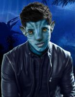 Taylor Lautner as a Na'vi by Jennsan89