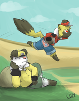 The quick brown fox jumped over the lazy dog by lemondragon19
