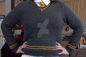 Hufflepuff Sweater by QueenNekoyasha