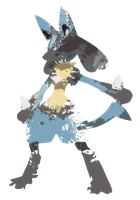 Lucario Paint Splatter Graphics by HollysHobbies