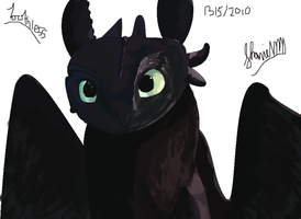 Toothless attempt by ConkerTSquirrel