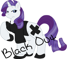 Black out Rarity by Starlord-wannabe