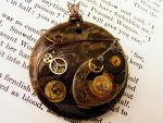 Stopped Time Steampunk Pendant by Mousenibbles