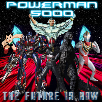 Powerman 5000: The Future Is Now CD Cover by FearOfTheBlackWolf