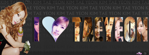 I LOVE TAEYEON FOR FB TIMELINE COVER VERSION 2 by ExoticGeneration21