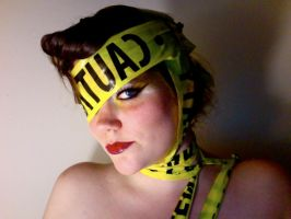 Lady Gaga Caution Tape 2 by TimeLordmk