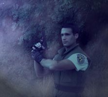 Chris Redfield cosplay : Coming to Mansion by Arwander