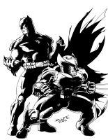 Wolverine and Batman inked by jwientjes