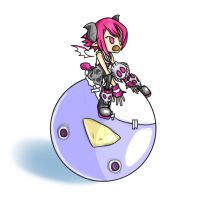 Disgaea - Beryl and her Prinny by Yarpy