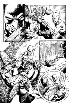 Hawkman Page 1 Inks by craigcermak