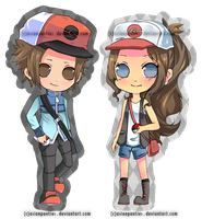 Pokemon BW Trainer Keychains by AsianPanties