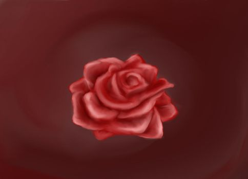 Red Rose by Lavenfer