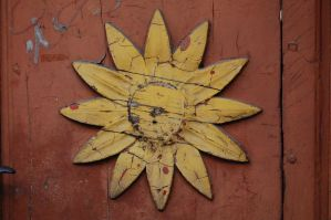 wooden sunflower by Imarsis