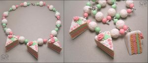 "Chaplet ""Cream cake"" by AnielClayWorks"