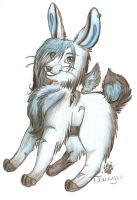 Ice Bunny - colored - by Thessye