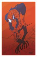 Spidey on the wall by ChrisMoreno