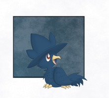 Baby Murkrow Redone by Sandstormer