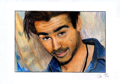 Colin Farrell in color by Moppi