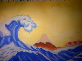 hokusai - my work by thedevilhaswings