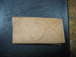 Another wallet in progress by FattDaddyLeather