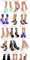 Asami Shoe Showcase Part 1 by chatterHEAD