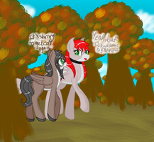 A walk through the woods by RadioactiveSkunk