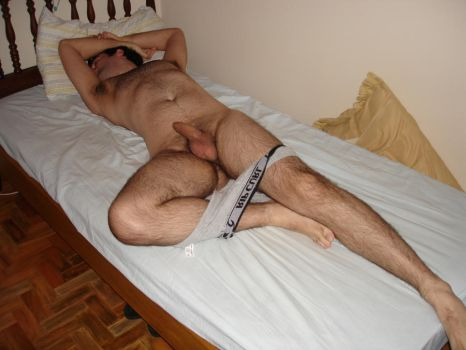 nude on bed by hairyguy