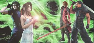 Aeris Zack Genesis Angeal by AshleyGunville