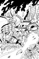 Max Dinobots 2 cover inks by MarceloMatere