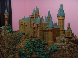 Hogwarts Castle Paper Model - Side View by ana-wandmaker