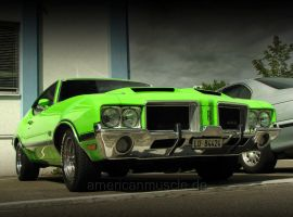 green oldsmobile 442 by AmericanMuscle