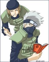 Genma and Kakashi Color by telophase