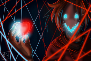 Corrupted heart by Ashesfordayz