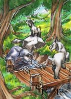Three Billy Goats Gruff - Mel Uran by Pernastudios