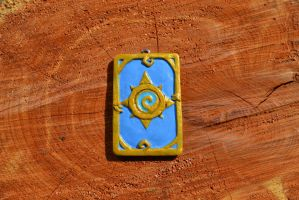 Hearthstone Card Back in clay by Sevvie