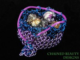 Lavender and Blue Chainmaille Bag by ChainedBeauty