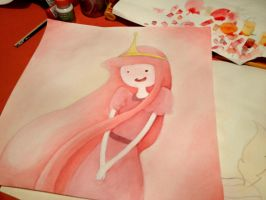 Adventure Time WIP Princess Bubblegum by nisaza