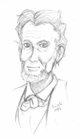 DeviantVicky's Drawing Challenge: Abe Lincoln by kaisaki1342