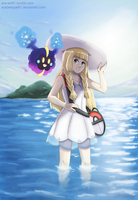 Lillie and Nebby - Pokemon Sun and Moon