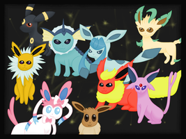 Eeveelutions by emosapien-x3